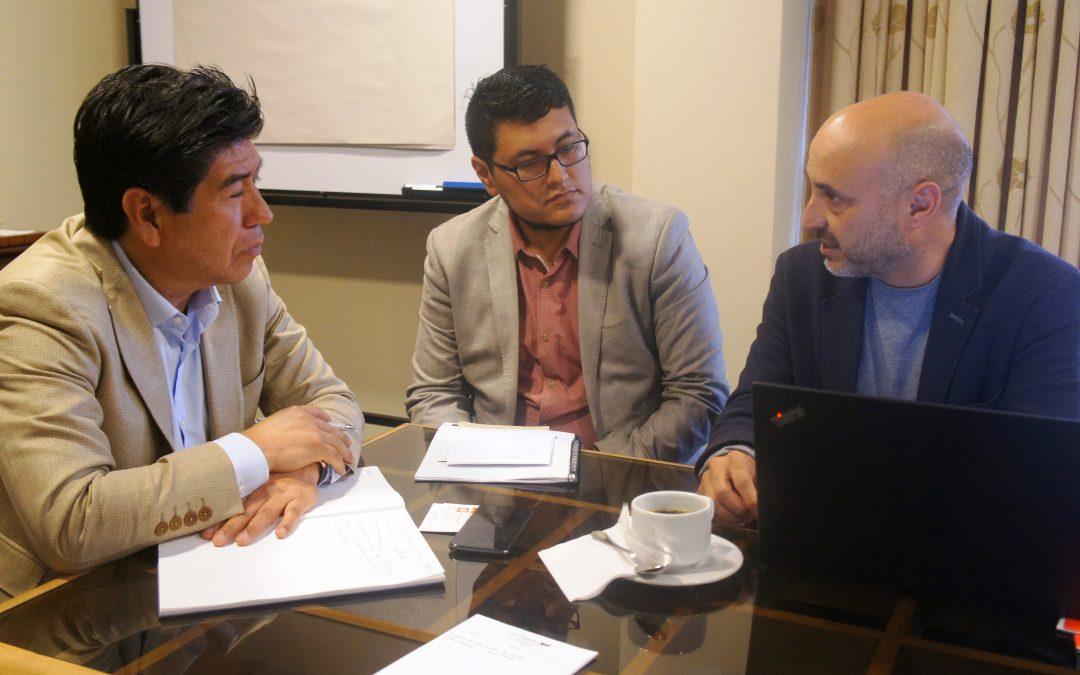 Presidente del Colegio de Arquitectos de Pichincha se reunió con alcalde electo de Quito Jorge Yunda.