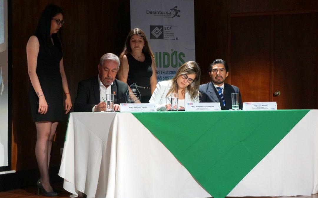 Nuestra Entidad Colaboradora firmó un convenio con el Municipio de Quito